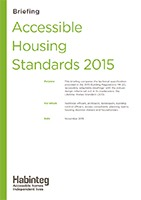 Download the accessible housing standards briefing
