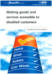 Making goods and services accessible to disabled customers front cover