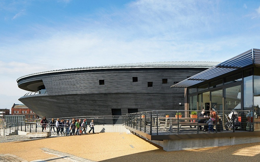 External view of Mary Rose museum