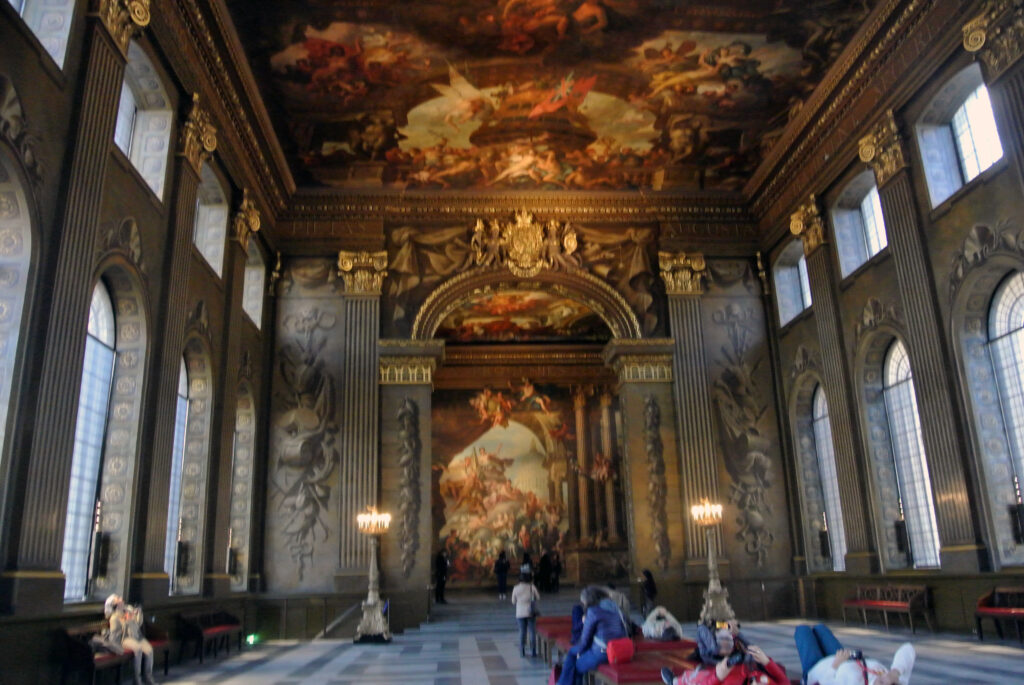an image of the inside of the painted hall