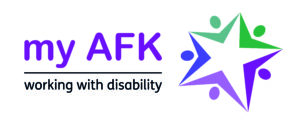 My AFK logo - working with disability