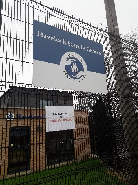 Picture of Havelock Family Centre's front entrance and sign